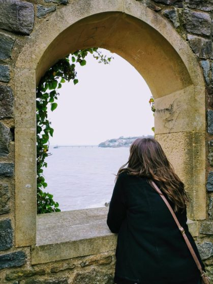 Justine at the Sugar Lookout in Clevedon, England