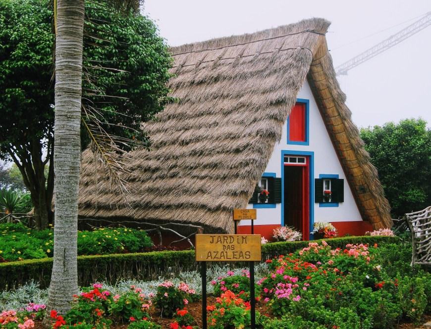 Traditional straw huts in Santana, Madeira