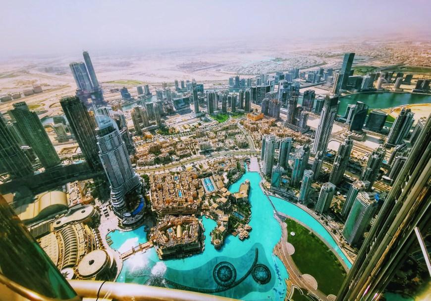 Views from the top of Burj Khalifa, Dubai