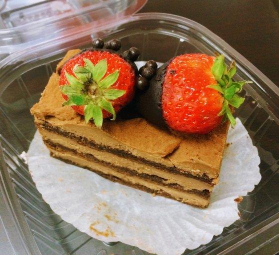 Chocolate cake from Cafe Madeleine, San Francisco