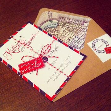Airmail Wedding Invitations