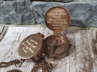 Compass Groomsmen Gift