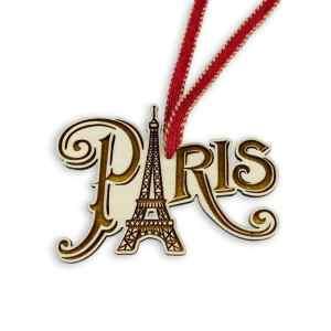 Travel Themed Christmas Ornament - Paris