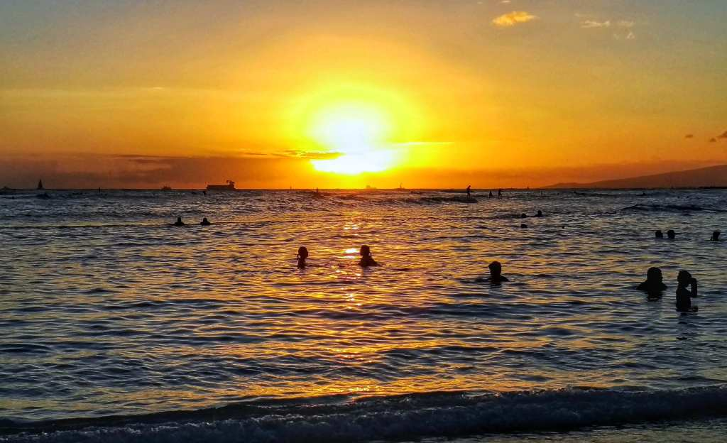 Waikiki Beach Sunset