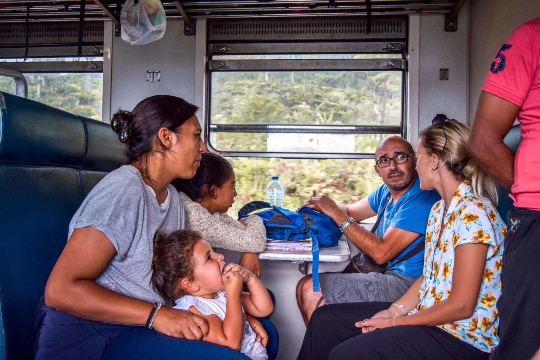 Wanderers & Warriors - Charlie & Lauren UK Travel Couple - Kandy To Ella Train Sri Lanka