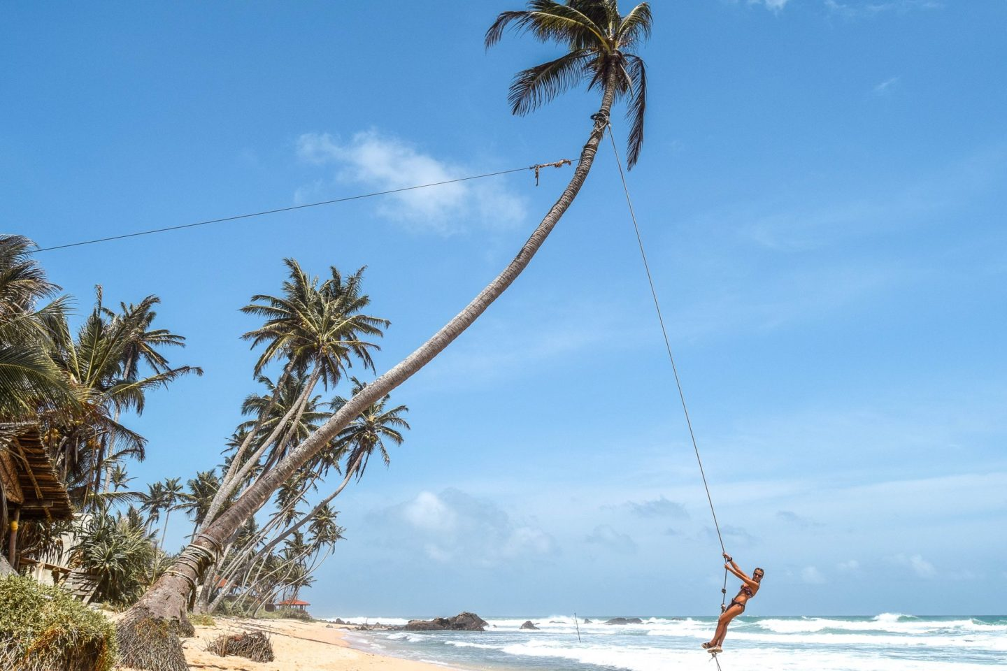 Wanderers & Warriors - Charlie & Lauren UK Travel Couple - The Best Things To Do In Unawatuna - Dalawella Rope Swing