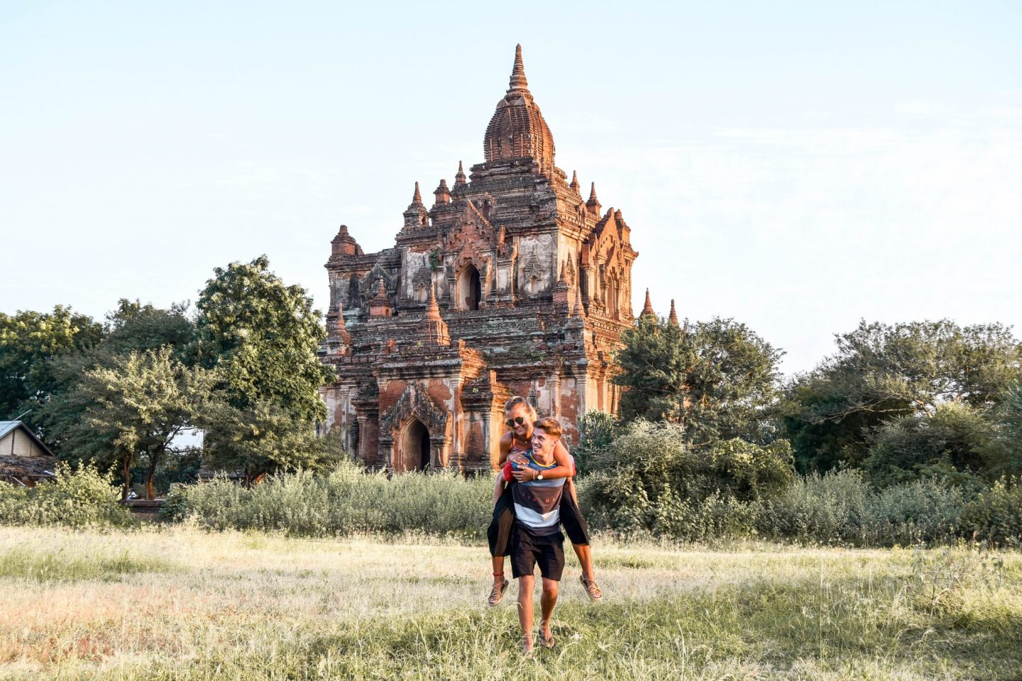 Wanderers & Warriors - Charlie & Lauren UK Travel Couple - Bagan Temples - Best Pagodas For Sunrise & Sunset - Sulamani Pagoda Myanmar