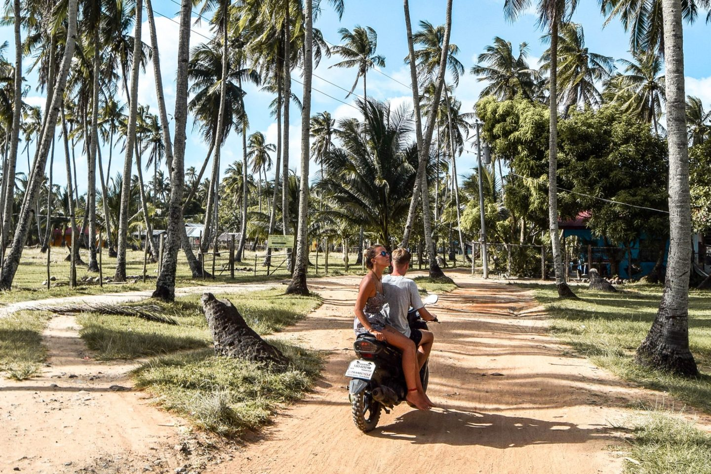 Wanderers & Warriors - Charlie & Lauren UK Travel Couple - Riding through El Nido Palawan, Philippines Tour Packages In El Nido & Things To Do In El Nido