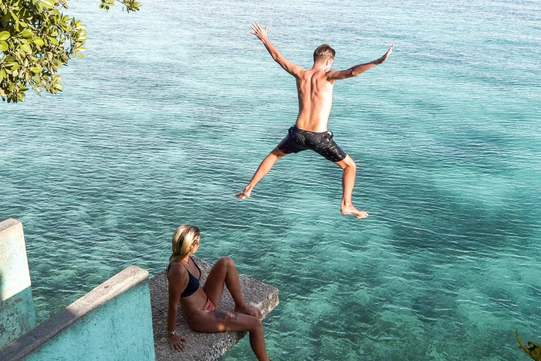 Wanderers & Warriors - Charlie & Lauren at Salagdoong Beach Cliff Jump, Siquijor, Philippines