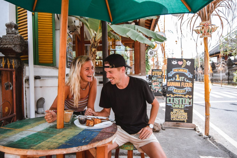 Wanderers & Warriors - Charlie & Lauren UK Travel Couple - Made's Banana Flour Co Bali - Best Restaurants In Bali Food - Best Restaurants In Canggu
