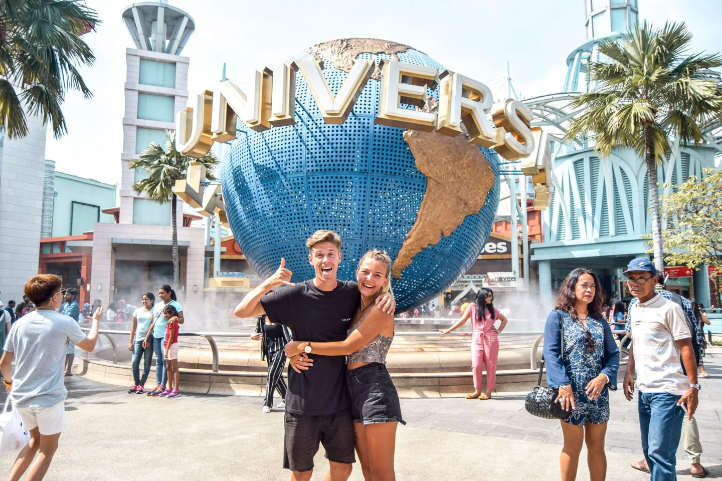 Wanderers & Warriors - Charlie & Lauren UK Travel Couple - Universal Studios Singapore - Best Things To Do In Singapore