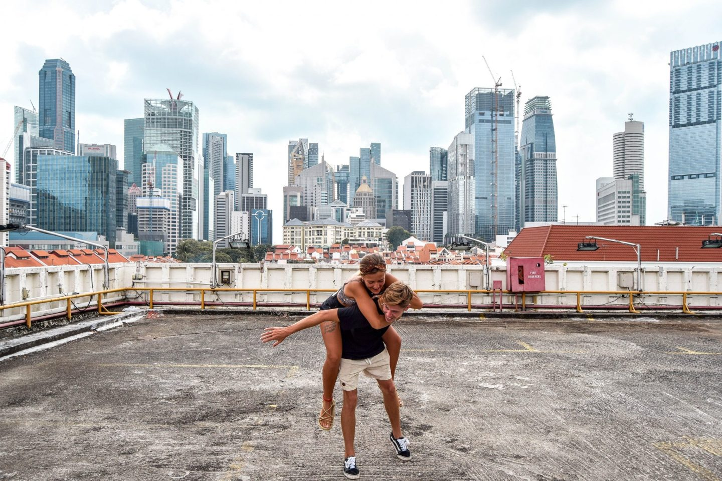 Wanderers & Warriors - Charlie & Lauren UK Travel Couple - Peoples Park Singapore - Things To Do In Chinatown Singapore