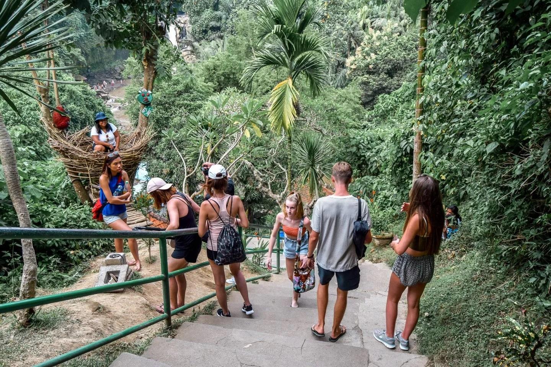 Wanderers & Warriors - Charlie & Lauren UK Travel Couple - Tegenungan Waterfall Bali - All You Need To Know