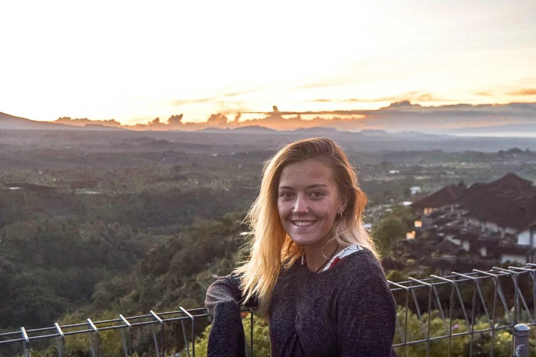 Wanderers & Warriors - Charlie & Lauren UK Travel Couple - Sunrise On The Way To The Famous Bali Gates - Handara Golf & Resort