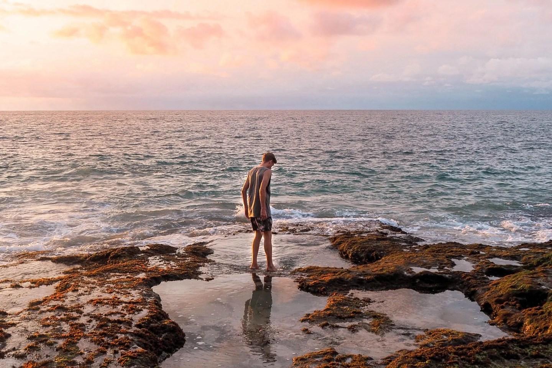 Wanderers & Warriors - Charlie & Lauren UK Travel Couple - Tegal Wangi Beach Bali & It's Natural Jacuzzi's - Beach Uluwatu - What To Do In Uluwatu Bali - Uluwatu Things To Do - Things To Do In Uluwatu - Rock Pools Bali - Cave Beach Bali - Sunset Cave Bali