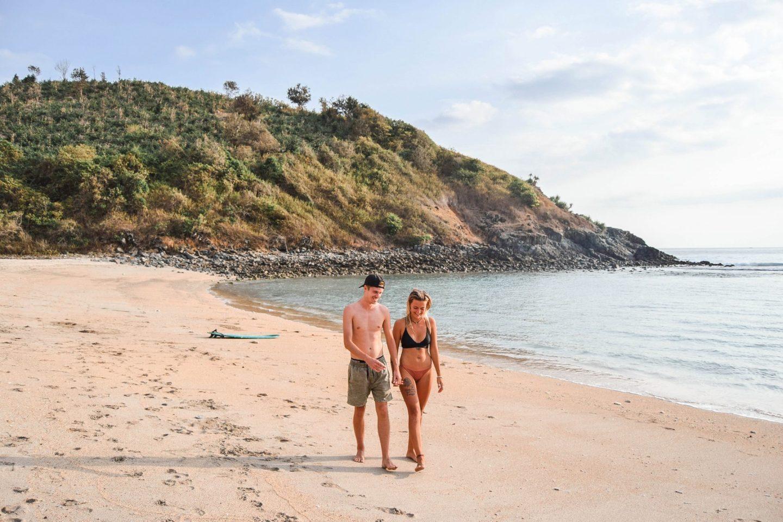 Wanderers & Warriors - Charlie & Lauren UK Travel Couple - Mawi Beach Lombok beaches - best beaches in lombok - surf in lombok
