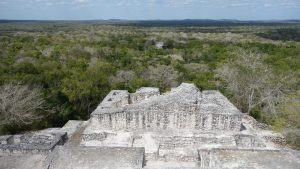 Destinations: Calakmul. On top of a Pyramid