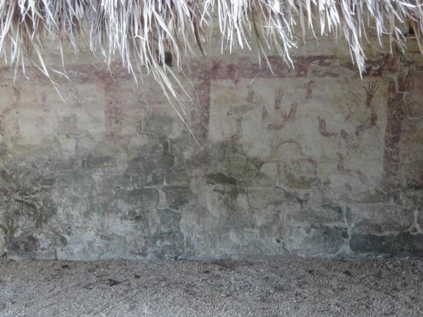 Pyramid of the Birds. Fresco. Xel-Ha Ruins