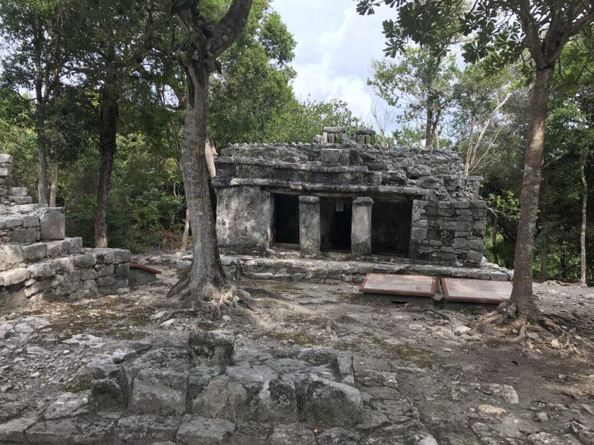 Xel-Ha Ruins. House of the Jaguar.