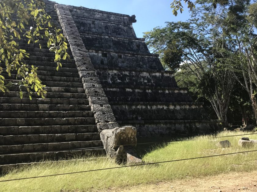 Chichen Itza. Temple in the Old Town