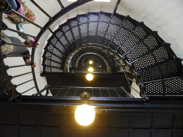Inside the Yaquina Head Lighthouse