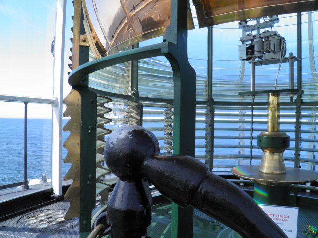 The Fresnel-lens in the Yaquina Head lighthouse