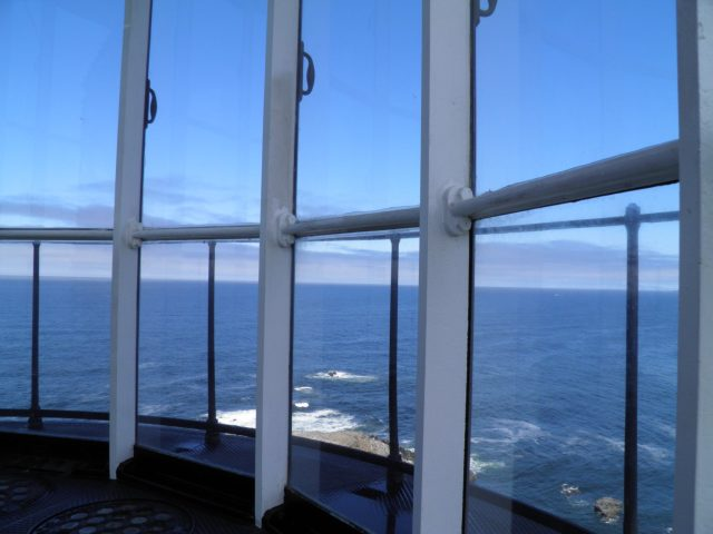 View from inside the Yaquina Head Lighthouse
