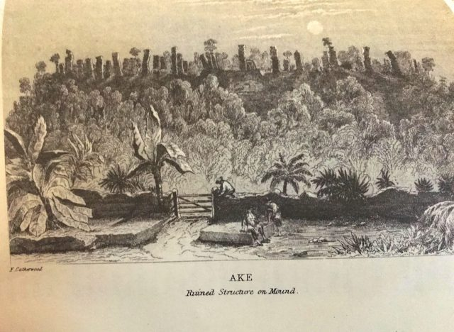 Aké Ruins - Catherwood print