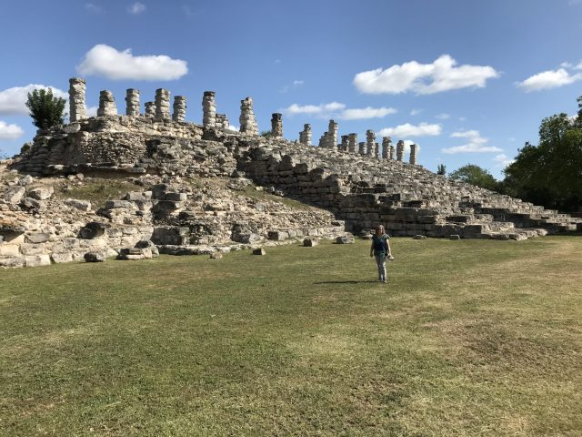 We were the only visitors in Aké Ruins, Yucatan