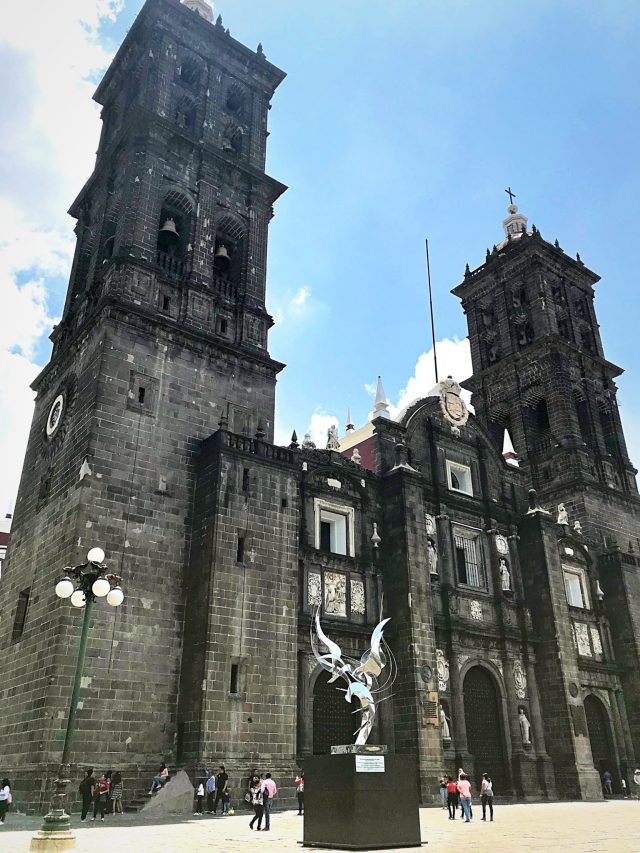 The Cathedral in Puebla City Center