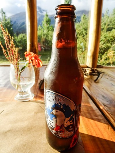 Local Caiquen blonde beer - the many microbreweries of Patagonia were a welcome surprise..