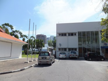Outside Labuan Muzium - View of Labuan Business Financial Centre