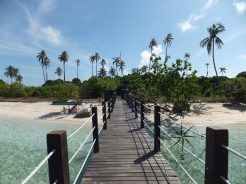 Explore Sabah, Mantabuan Island, Semporna 2014 - View From The mini Jetty - Front