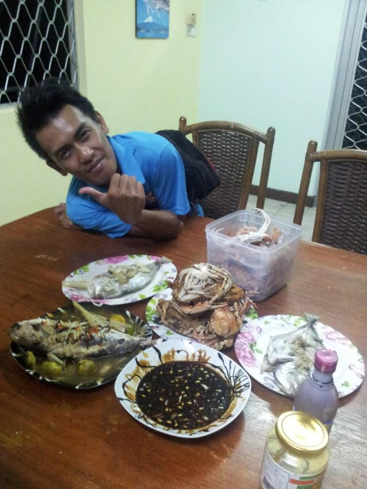 Dinner with Borneo BeacHouse Staff Awang