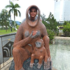 Orang Utan Props outside of Menara Tun Mustapha