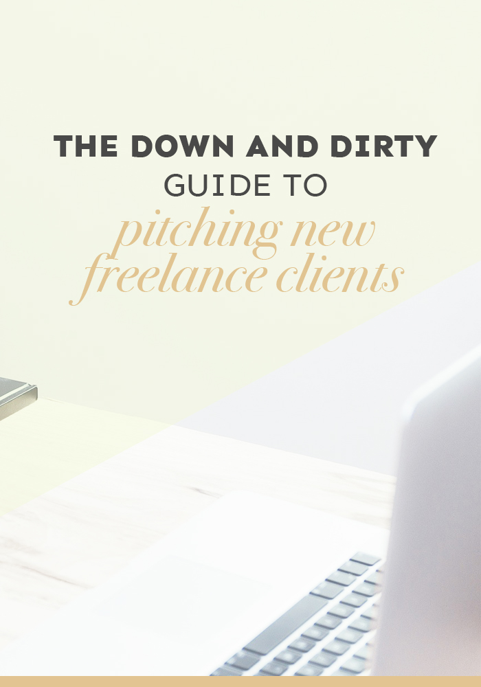 Pitching new freelance clients isn't easy! But with this step-by-step method you'll be working with awesome brands in no time at all!