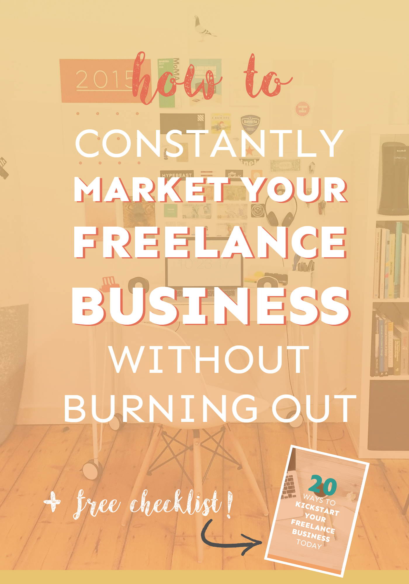 Don't know how to market your freelance business successfully? Here's a key strategy you can use to avoid burnout and consistently get clients! - Plus, there's a free worksheet to help you out.