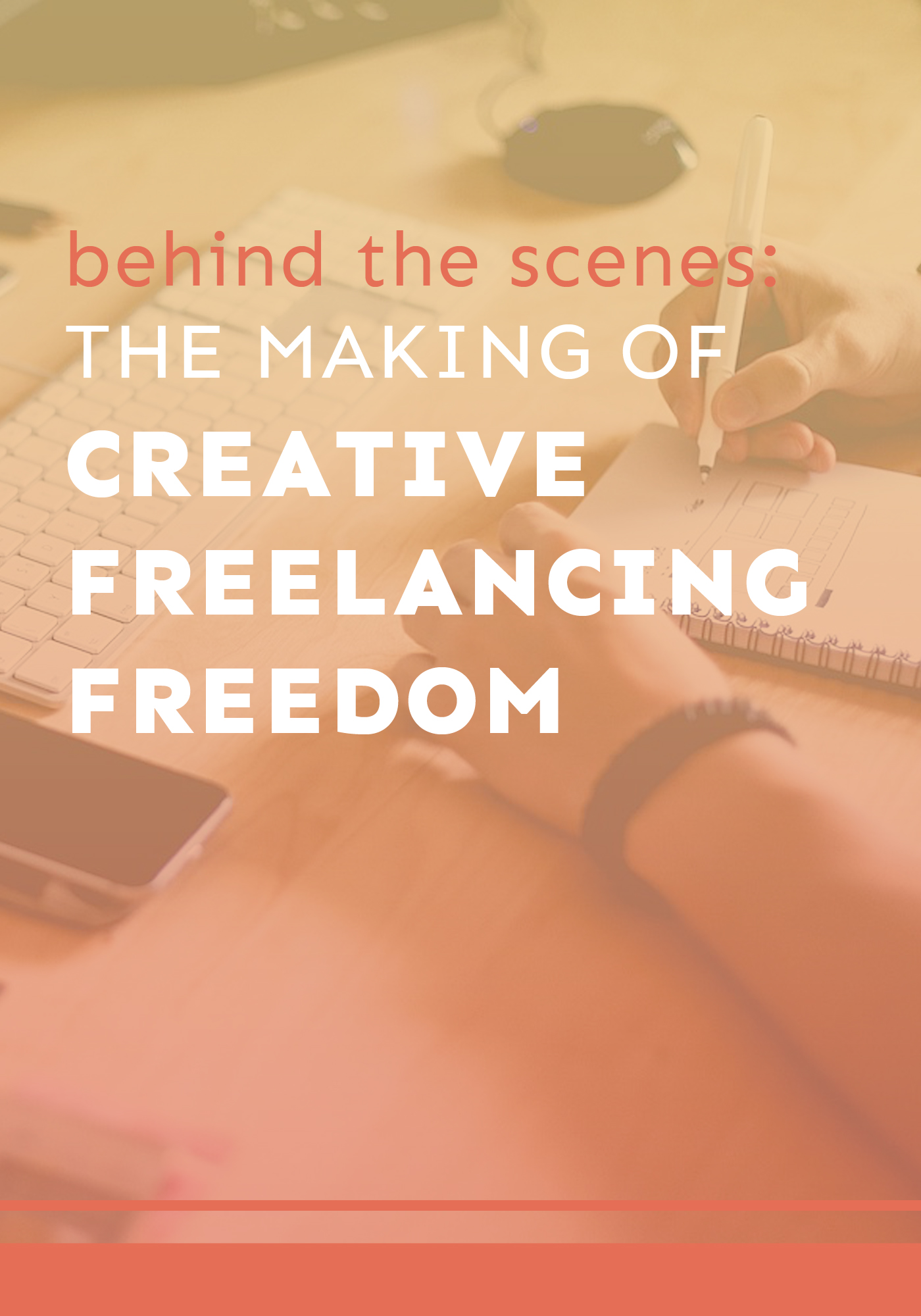 Go behind the scenes and learn how I came up with and created the concept behind Creative Freelancing Freedom