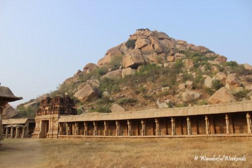 View of Matanga Hill from Achyutaraya Temple