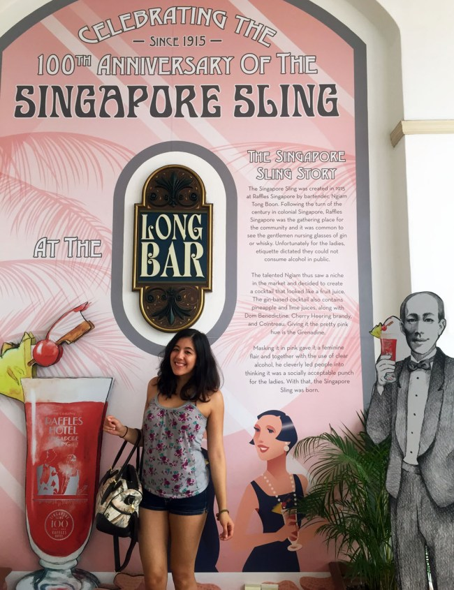 Singapore Sling History Informational Sign