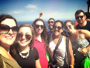 Stefanie, Kate, Catherine, Stephanie and Berenger on the island of Capri, Italy.