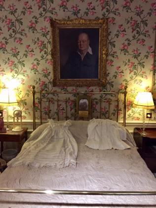The bed where Winston Churchill was born