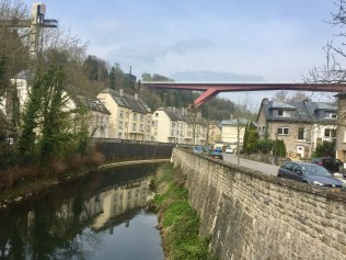 Luxembourg along the river Alzette