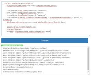 Convert C# to PowerShell