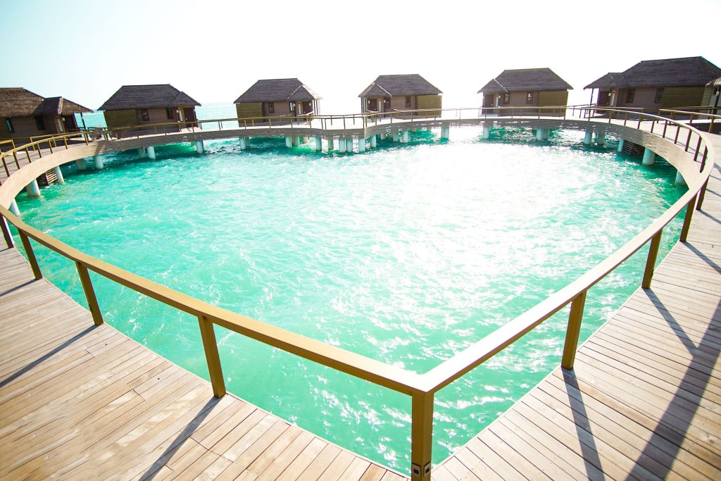 Luxury All Inclusive Experience: The Signature Heart Shaped Layout of Sandals Overwater Bungalows