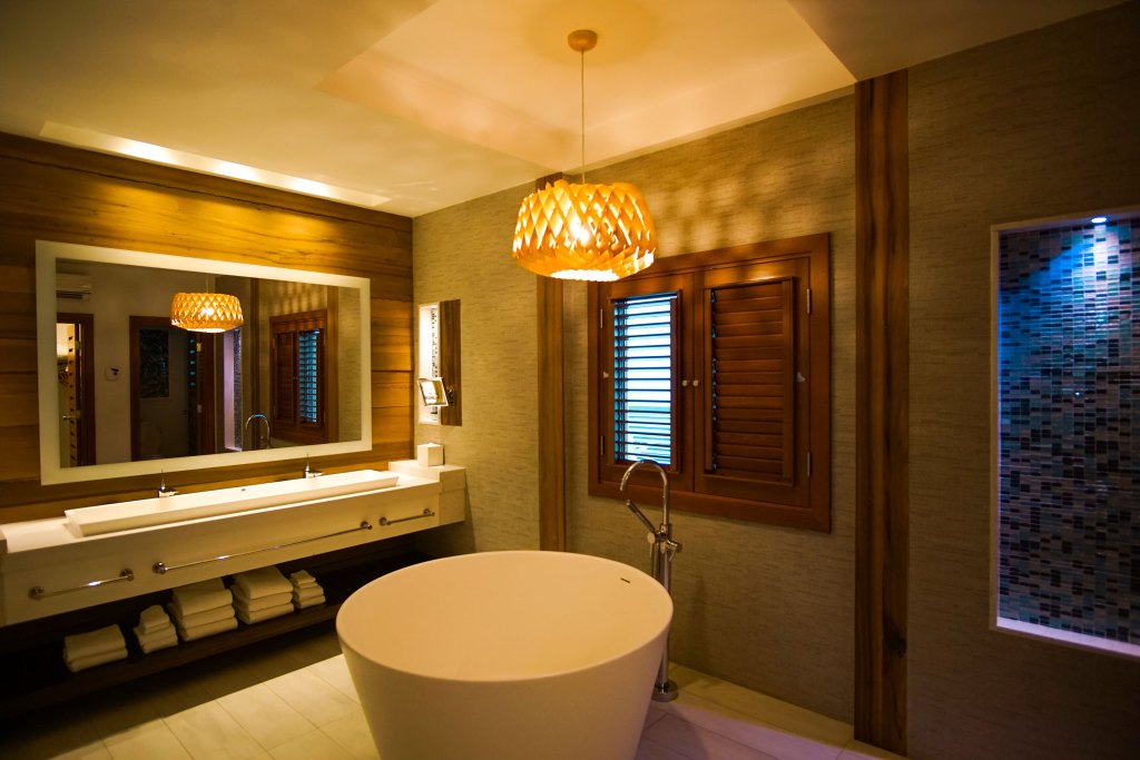 Luxury All Inclusive Vacation at Sandals Jamaica. Bath tub in one of the rooms
