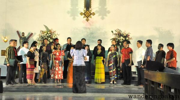 AILM Chorale-Asian Ensemble performing sacred songs