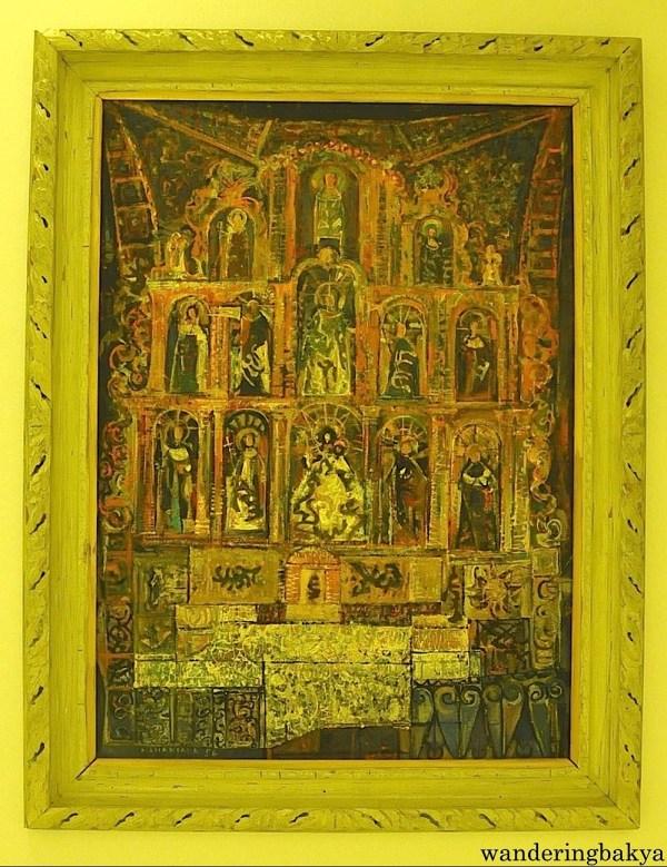 Dambana by Vicente Manansala (Mixed media on masonite board)