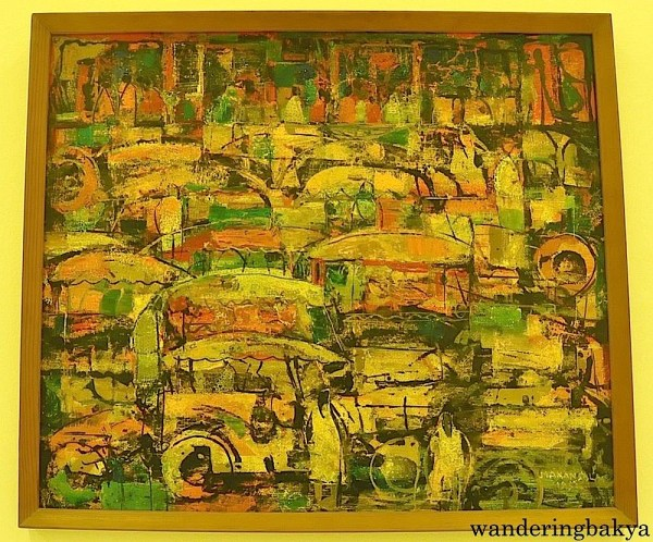 Jeepneys by Vicente Manansala (Enamel on masonite board)