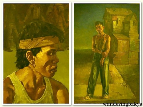 Ang Paglalakbay by Antipas Delotavo (Oil on canvas) and The Bystander by Martino Abellana (Oil on canvas). These are my favorites.
